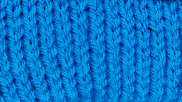 Example of Stockinette Stitch
