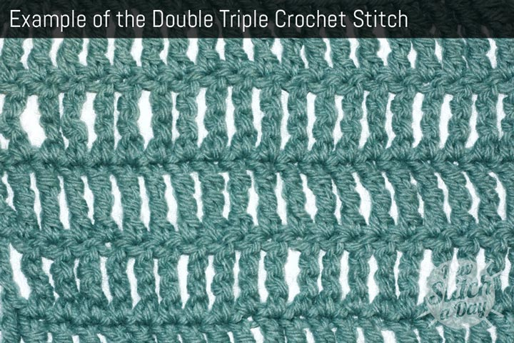 Example of the Double Triple Crochet Stitch