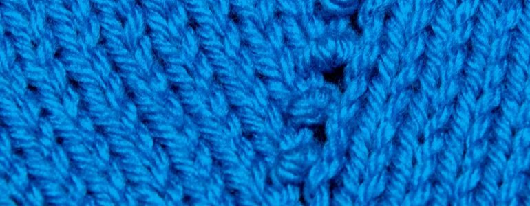 Example of the Moss Stitch Increase