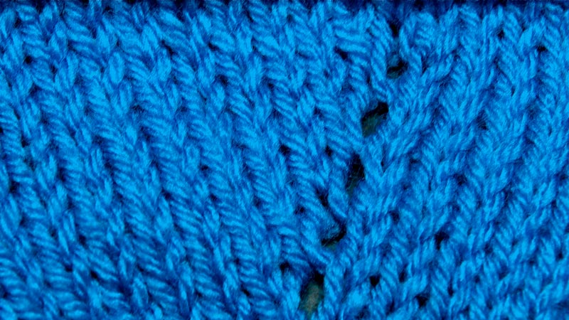 Increase Knit Stitch Without Hole : How to Knit the Afterthought Yarn Over Increase NEW STITCH A DAY