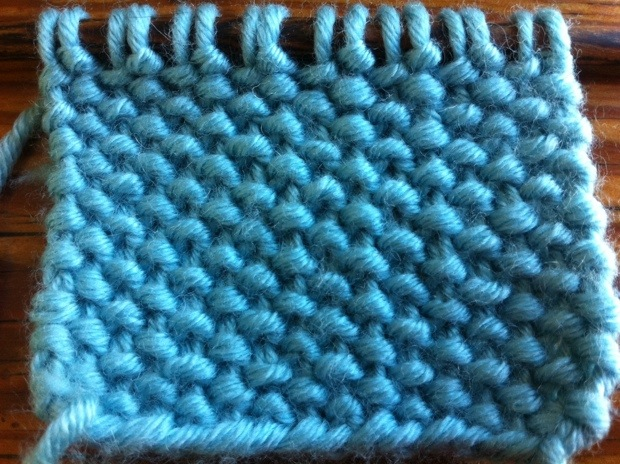 Example of the linen stitch (wrong side)