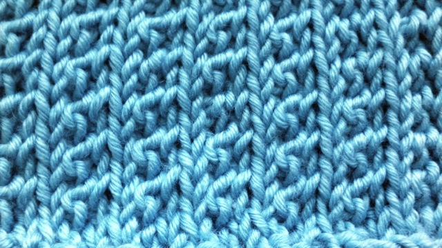 Example of the Supple Rib Stitch