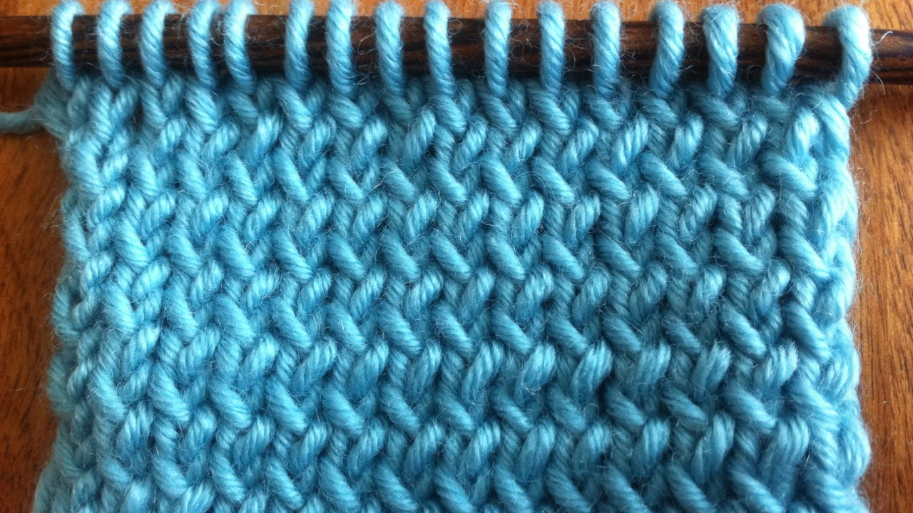 Knitted Stockinette Stitch Scarf Pattern : How to Knit Through the Back Loop NEW STITCH A DAY