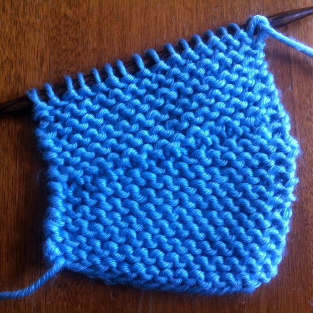 Example of the Wrap and Turn Short Row Stitch