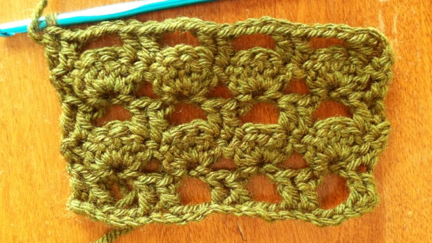 Example of the Boxed Shell Stitch