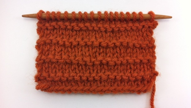 Example of the Purl Ridge Stitch