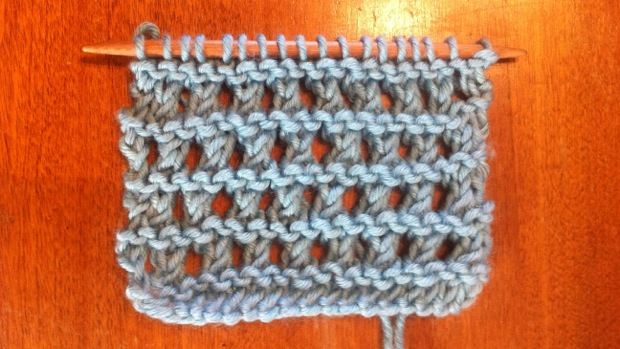 Example of the Ridged Eyelet Stitch