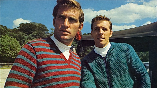 Men in vintage knit sweaters