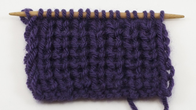 Example of the Half Fisherman's Rib Stitch