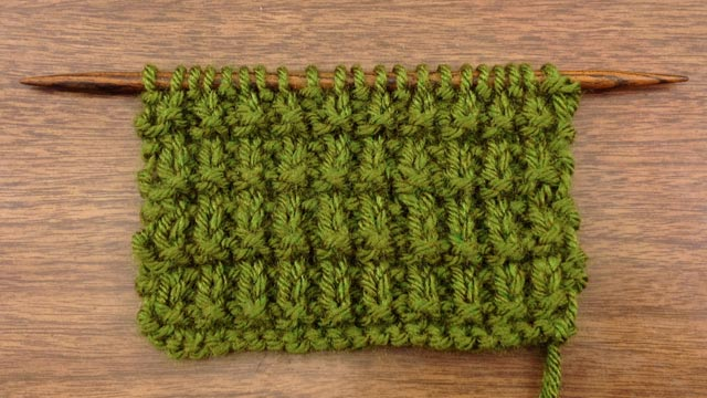Example of the Ridged Rib Stitch