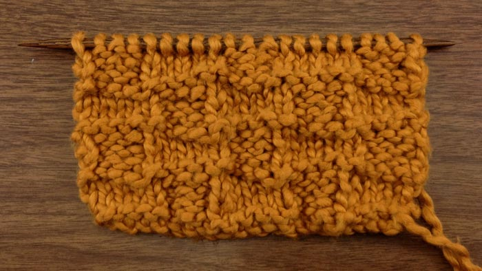 Example of the basketweave stitch (ws)