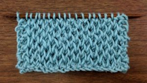 Example of the Honeycomb Brioche Stitch (right side)