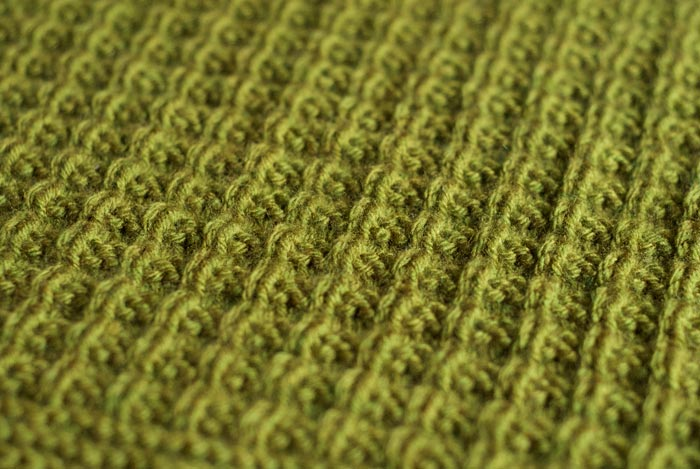 Detail shot of the New Stitch a Day Afghan Knit-a-long January Square