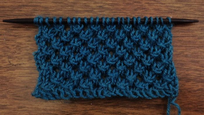 Knitting Patterns New Stitch A Day : The Knotted Openwork Stitch :: Knitting Stitch #65