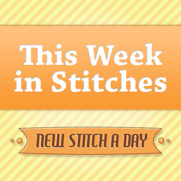 New Stitch a Day's This Week in Stitches Logo