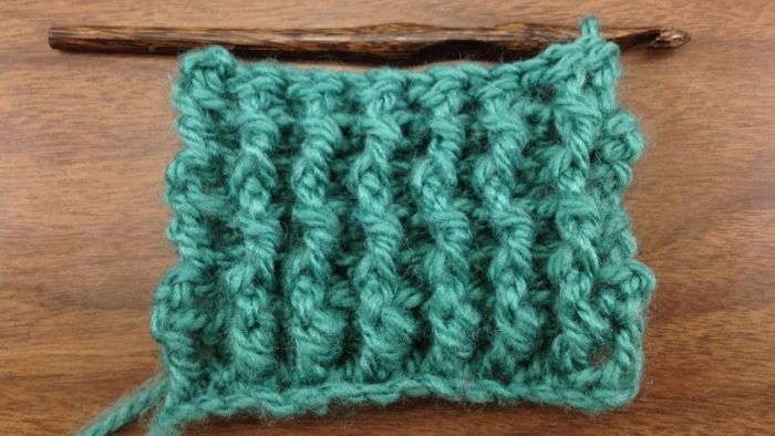 Crochet Rib Stitch : The Single Rib Stitch :: Crochet Stitch #34