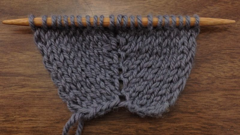Knitting Increase Stitch In Middle Of Row : How to Knit the Make Two Double Increase (M2) NEW STITCH A DAY