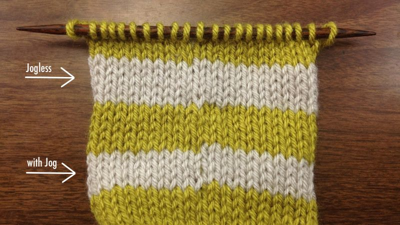 How to Knit a Traveling Jogless Stripe in the Round NEW STITCH A DAY
