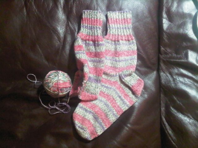 More socks knit by Matt P