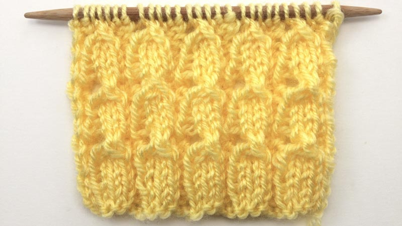 How to Knit the Bluebell Rib Stitch