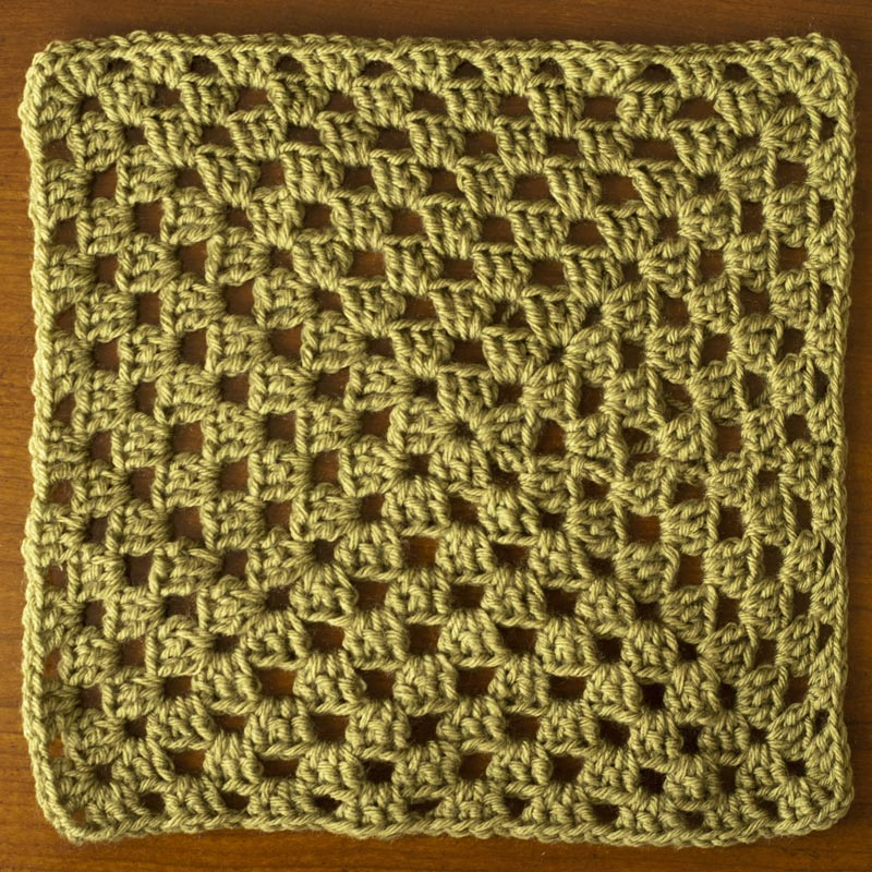 New Stitch a Day February New Stitch Afghan Crochet-a-long Square