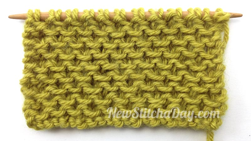 Cross Knit Loop Stitch : The Loop Stitch :: Knitting Stitch #75