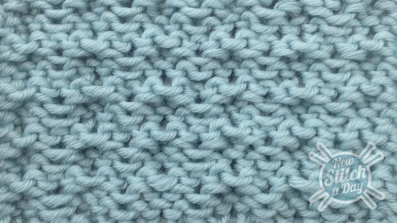 Example of the Whelk Stitch close up wrong side