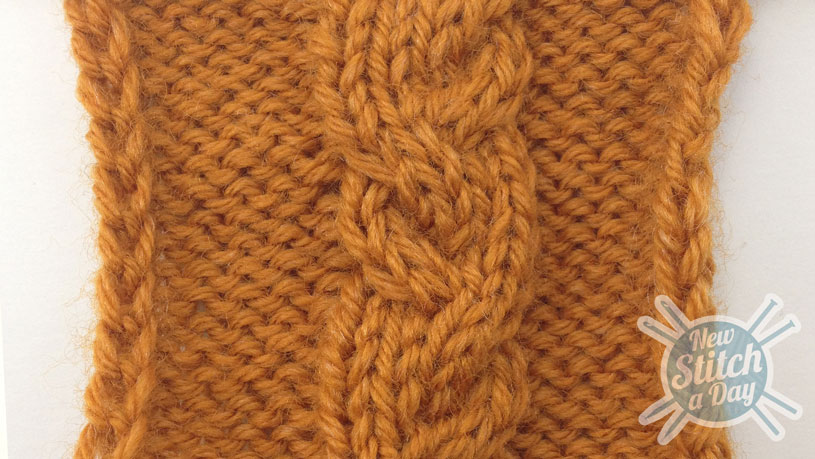 How to Knit the Garden Path Cable Stitch close up