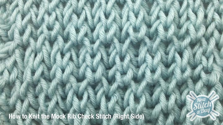 Example of the Mock Rib Check Stitch