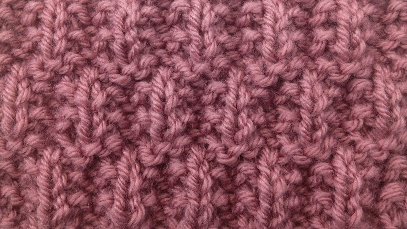 Example of the Seeded Rib Check Stitch close up
