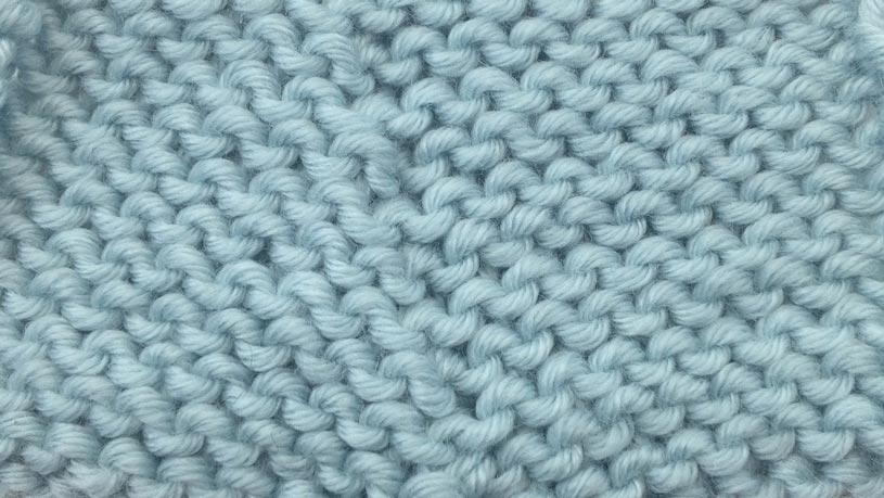 Example of the Purl Two Together Decrease right side close up