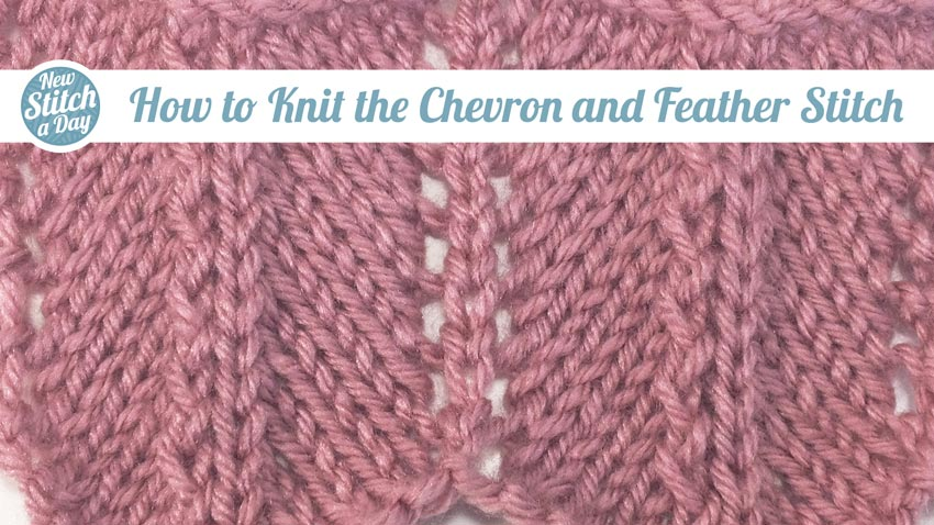 Cheveron and Feather Stitch