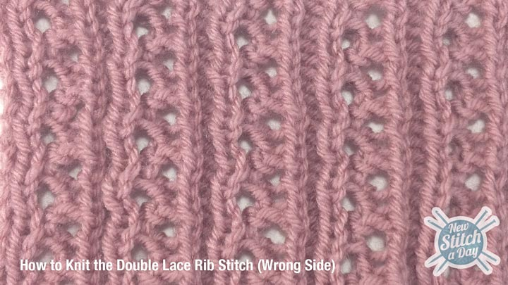 Lace Rib Stitch Wrong Side
