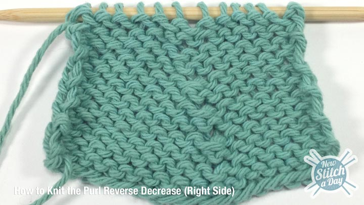 Purl Reverse Decrease Right Side