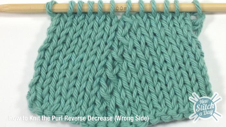 Purl Reverse Decrease Wrong Side