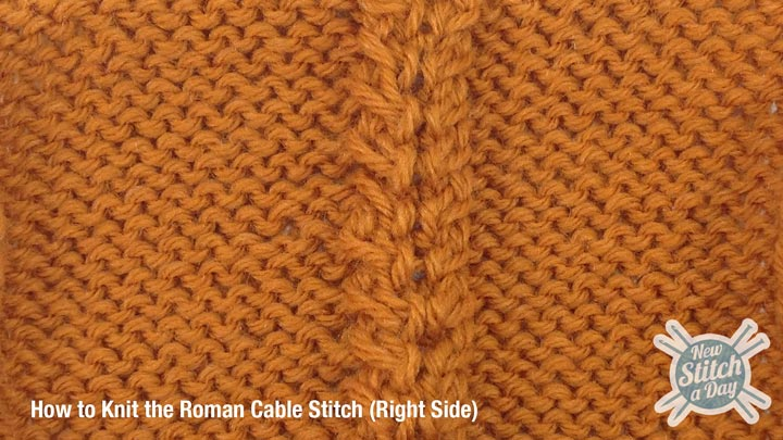 Roman Cable Stitch Right Side
