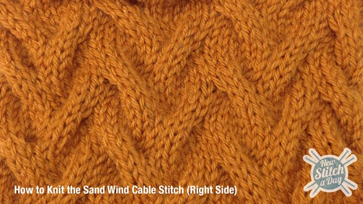 Sand Wind Cable Stitch Right Side