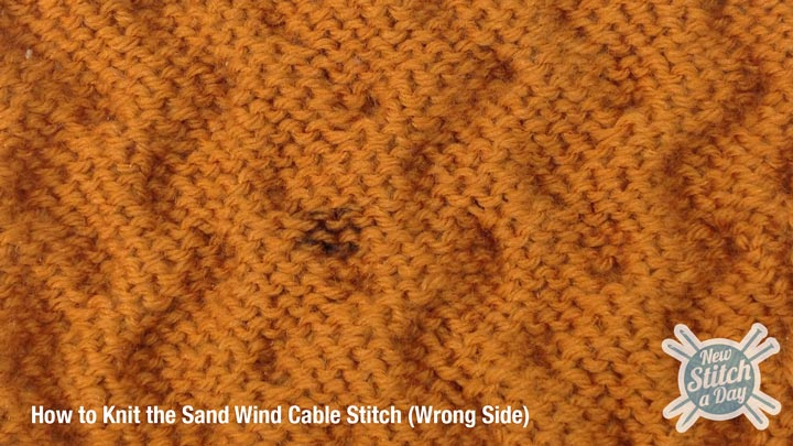 Sand Wind Cable Stitch Wrong Side