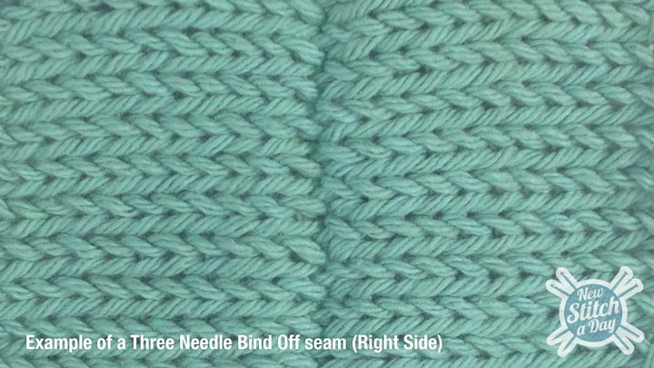 Three Needle Bind Off RS