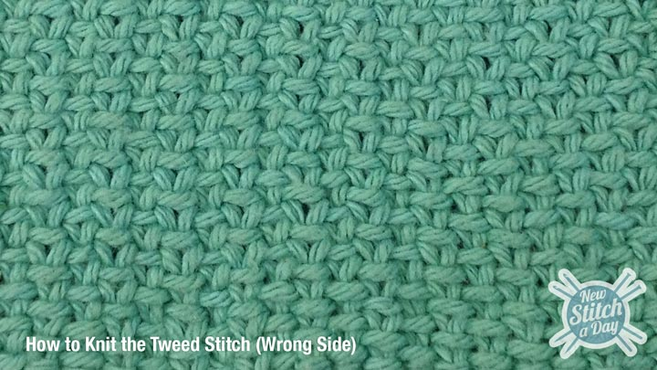 Tweed Stitch Wrong Side