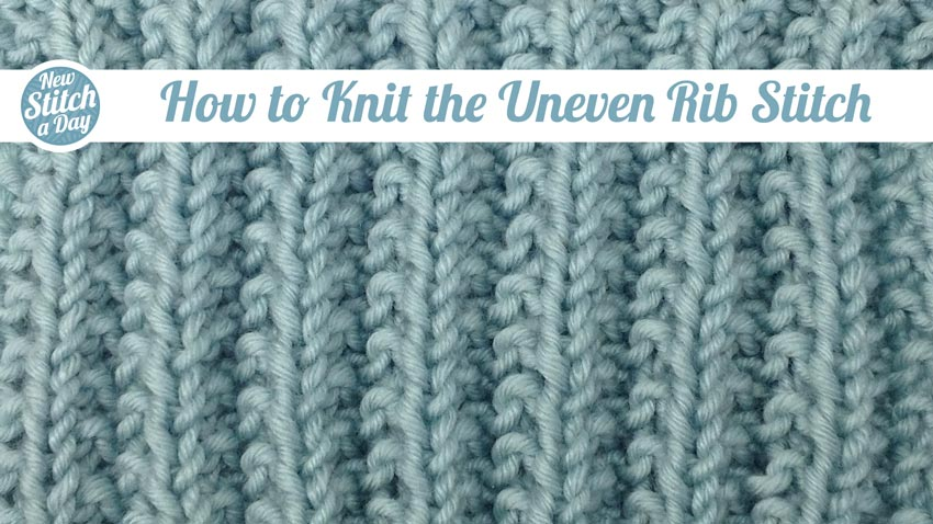 Simple Reversible Knitting Stitches : Reversible Archives NEW STITCH A DAY