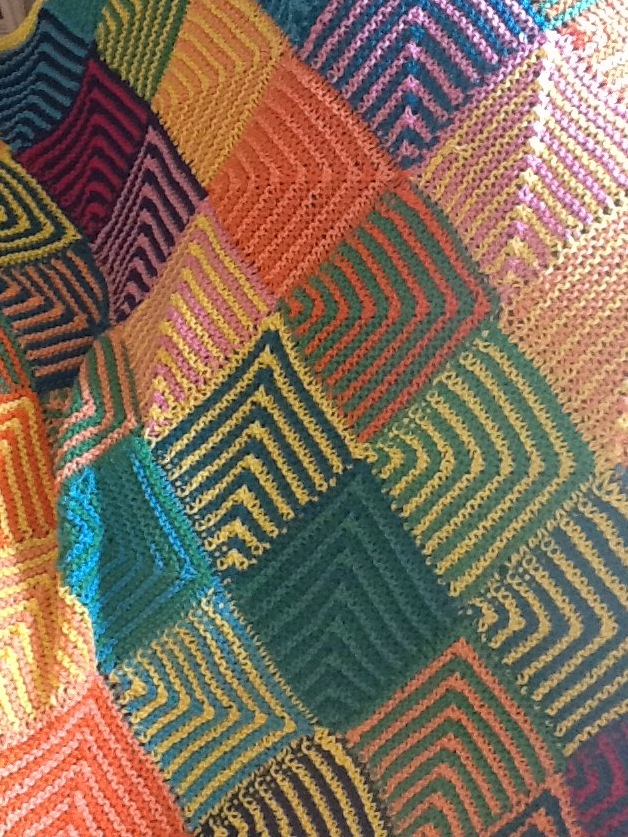 Suzanne's Mitered Square Blanket