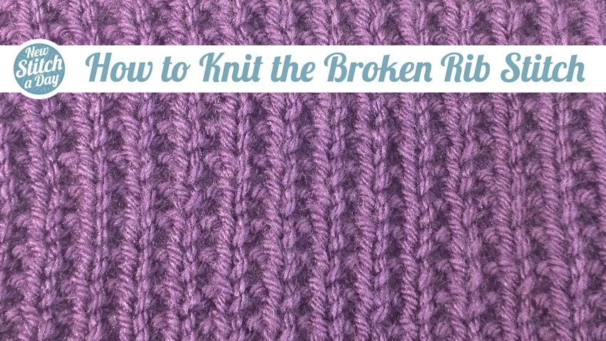 Knitting Ribbing Variations : The broken rib stitch knitting new