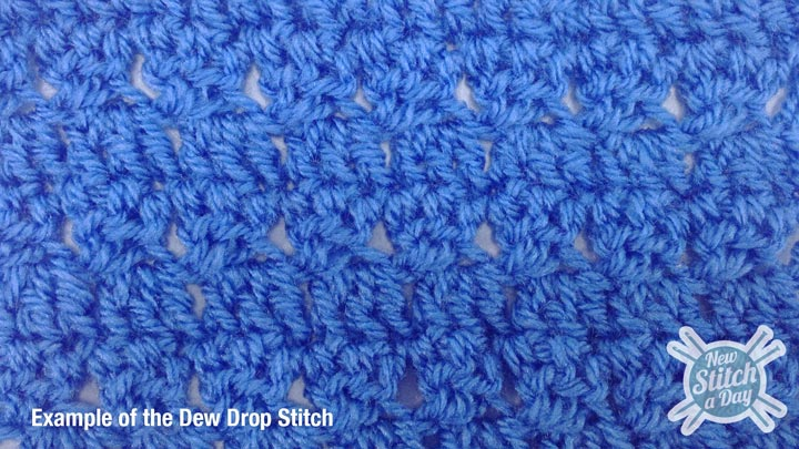 Example of the Dew Drop Stitch