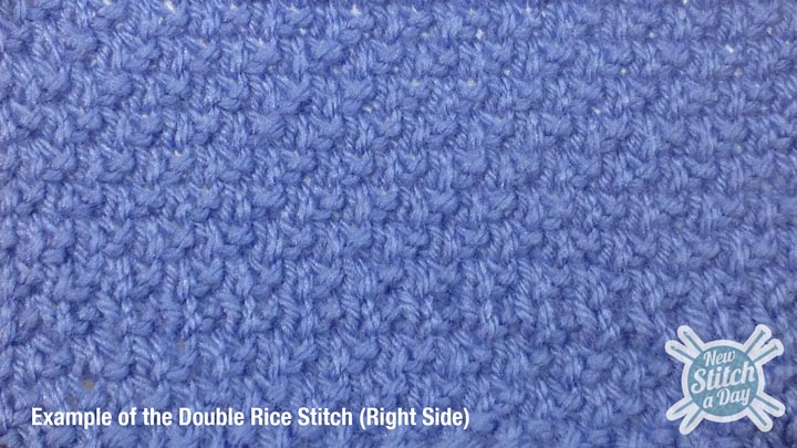 Example of the Double Rice Stitch Right Side