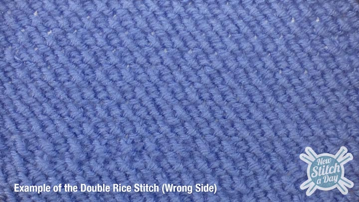 Example of the Double Rice Stitch Wrong Side