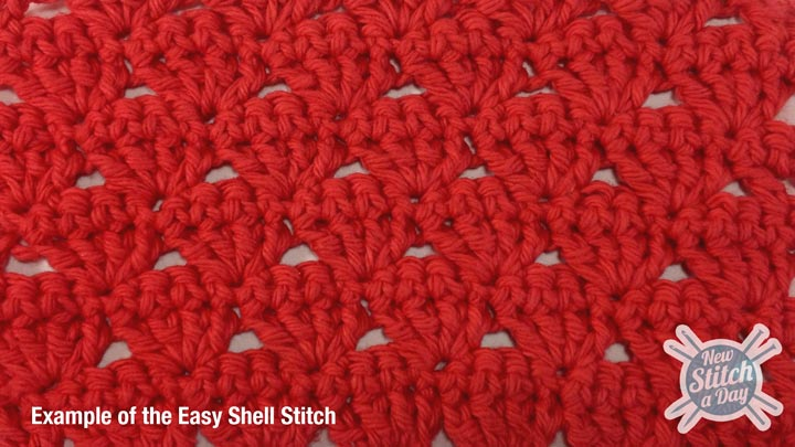 Crochet Stitches Shell Video : The Easy Shell Stitch :: Crochet Stitch #60