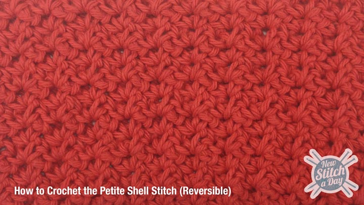 Example of the Petite Shell Stitch