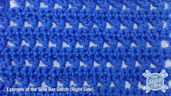 Example of the Side Bar Stitch Right Side