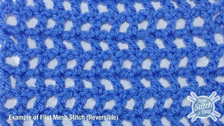 Example of the Filet Mesh Stitch